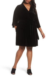 Eileen Fisher Velvet Wrap Dress (Plus Size)