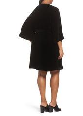 Eileen Fisher Velvet Wrap Dress (Plus Size)