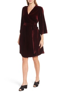 Eileen Fisher Velvet Wrap Dress (Regular & Petite)