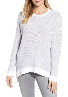Eileen Fisher Waffled Organic Cotton Sweater (Regular & Petite)