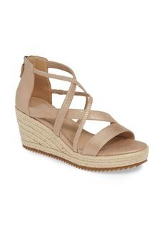 Eileen Fisher Wanda Cross Strap Wedge Sandal (Women)