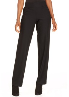 Eileen Fisher System Washable Crepe Straight-Leg Pants