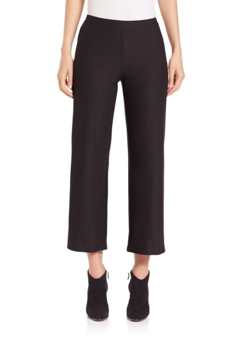 Eileen Fisher Washable Cropped Straight-Leg Pants
