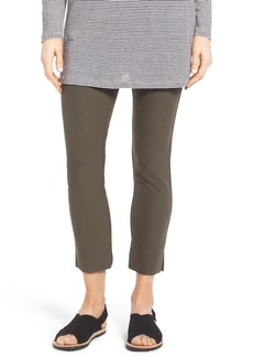 Eileen Fisher Washable Stretch Crepe Slim Ankle Pants (Petite)