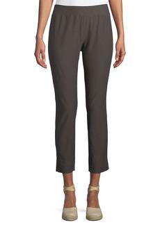 Washable Stretch-Crepe Slim Pants