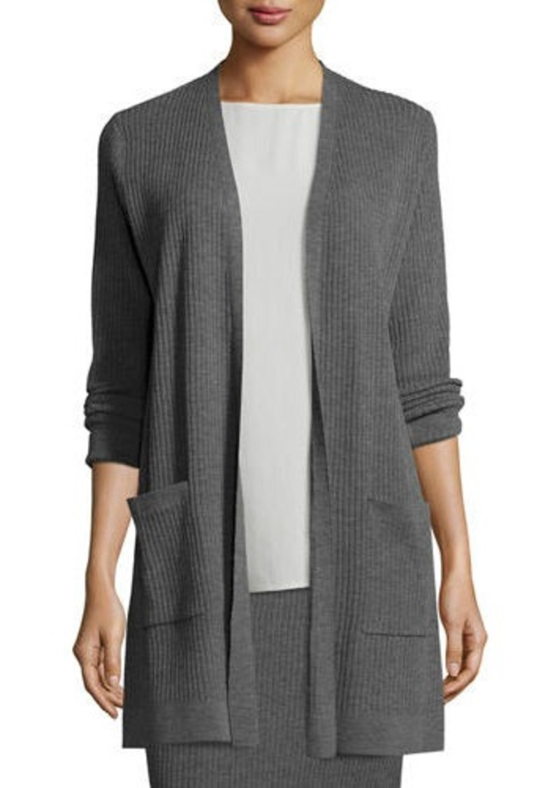 Eileen Fisher Eileen Fisher Washable Wool Ribbed Long Cardigan ...