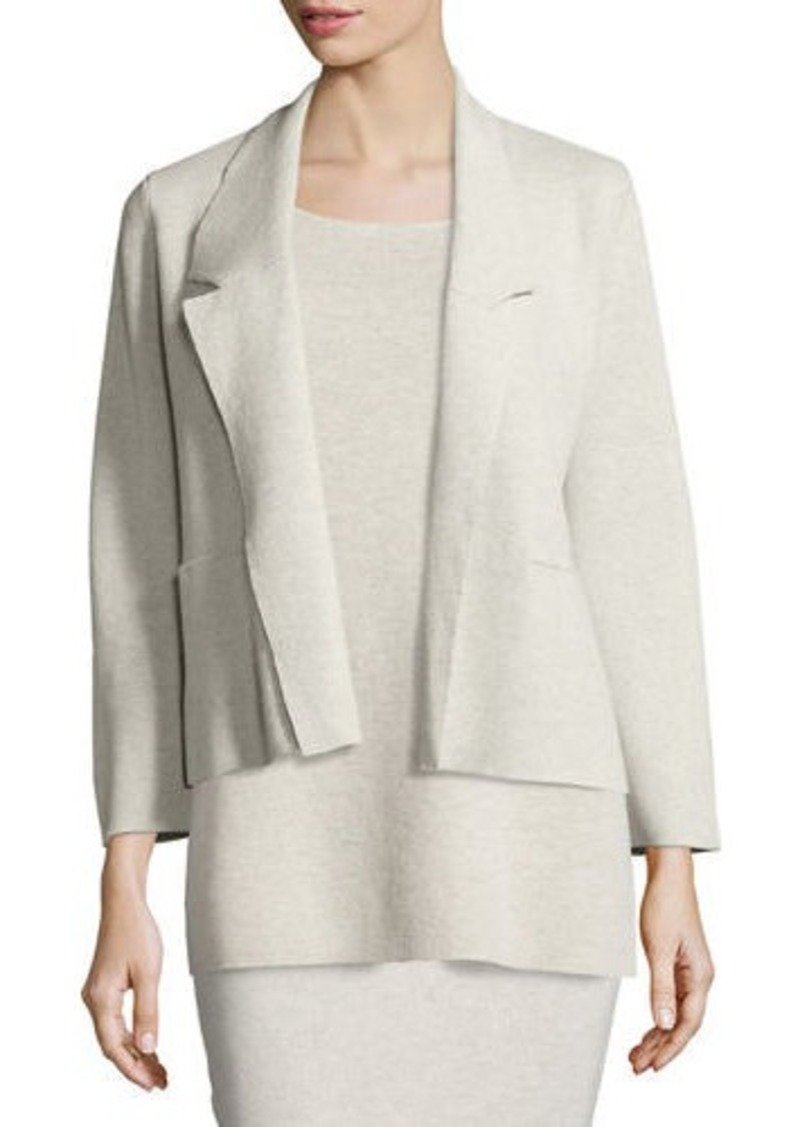 Eileen Fisher Eileen Fisher Washable Wool Short Boxy Jacket ...