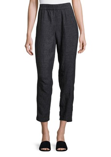Eileen Fisher Washed Délavé Linen Cropped Pants