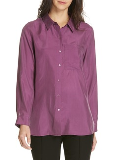 Eileen Fisher Washed Silk Blouse (Regular & Petite)