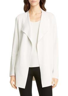 Eileen Fisher Waterfall Lapel Silk & Organic Cotton Jacket