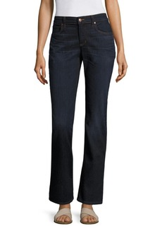 Eileen Fisher Whiskering Straight Jeans