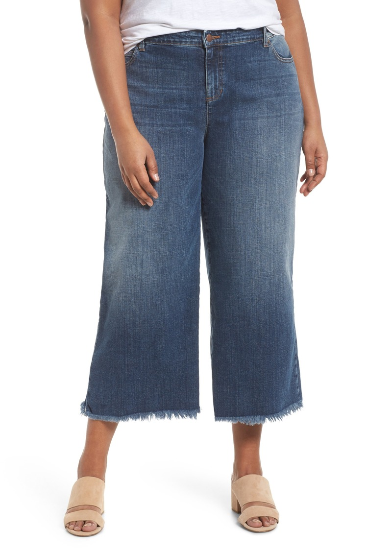 35a058e56c7 Eileen Fisher Eileen Fisher Wide Leg Ankle Jeans (Aged Indigo) (Plus ...