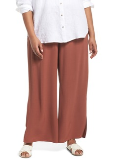 Eileen Fisher Wide Leg Ankle Pants (Plus Size)