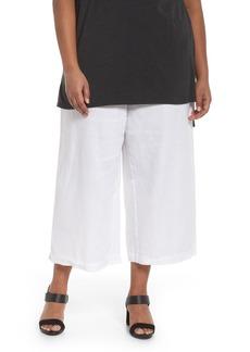 Eileen Fisher Wide Leg Crop Pants (Plus Size)