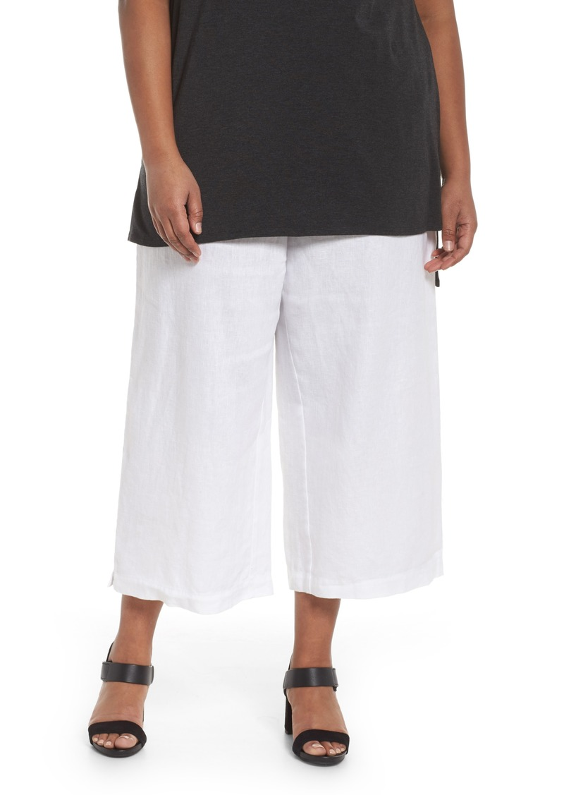 Eileen Fisher Eileen Fisher Wide Leg Crop Pants (Plus Size) | Casual Pants