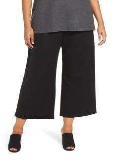 Eileen Fisher Wide Leg Drawstring Wool Pants (Plus Size)