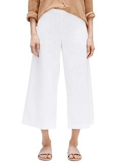 Eileen Fisher Wide Leg Organic Cotton Crop Pants (Regular & Petite)