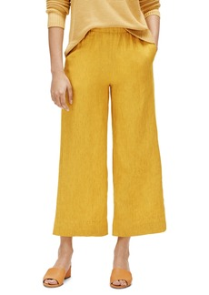 Eileen Fisher Wide Leg Organic Linen Ankle Pants
