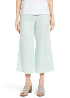 Eileen Fisher Wide Leg Organic Linen Crop Pants