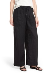 Eileen Fisher Wide Leg Organic Linen Pants (Regular & Petite)