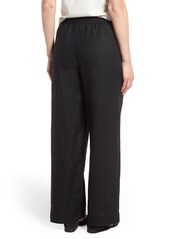 Eileen Fisher Wide Leg Organic Linen Pants (Regular & Petite)