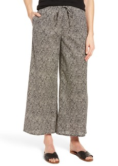 Eileen Fisher Wide Leg Print Organic Cotton Pants (Regular & Petite)