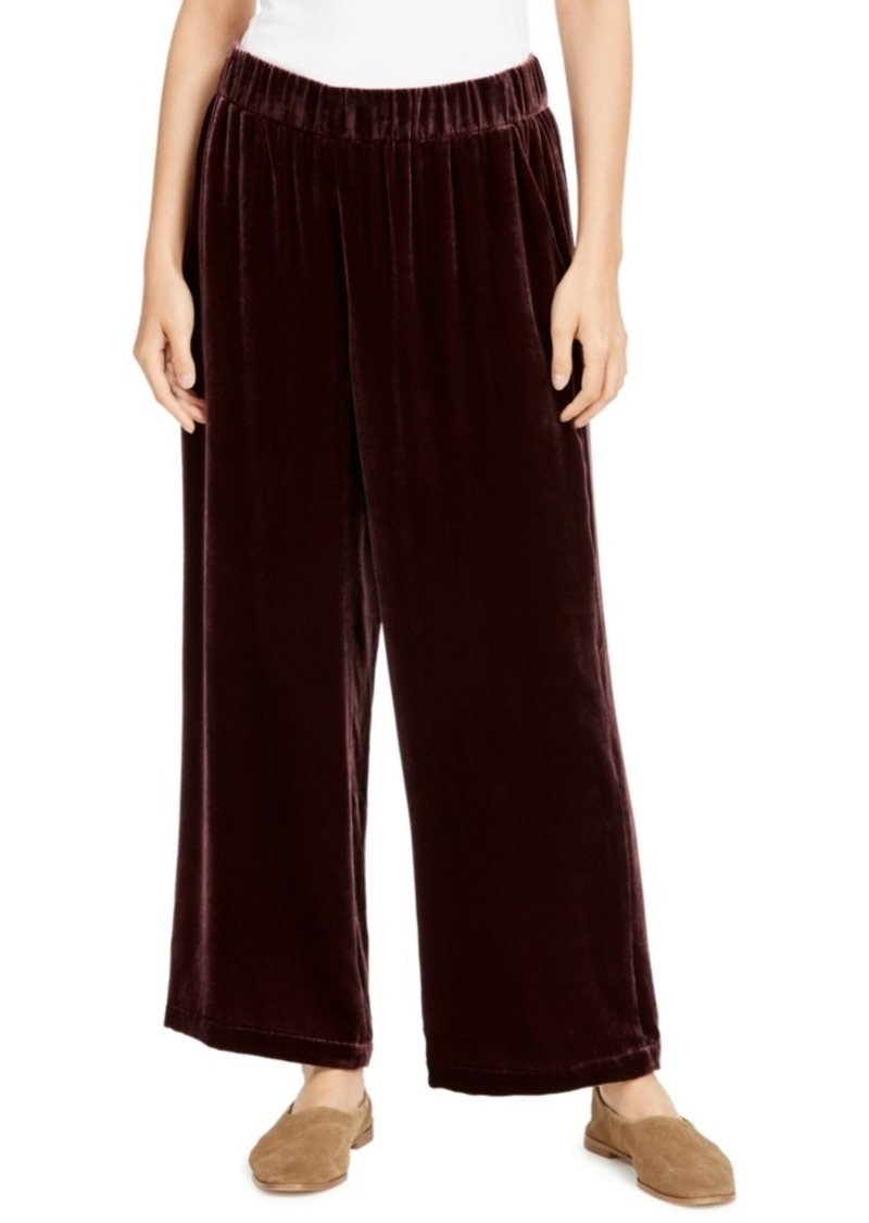 Eileen Fisher Wide-Leg Pull-On Pants
