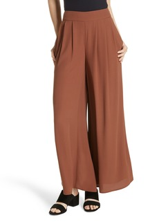 Eileen Fisher Wide Leg Silk Pants (Regular & Petite)