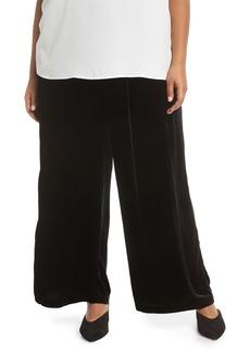 Eileen Fisher Wide Leg Velvet Ankle Pants (Plus Size)