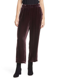 Eileen Fisher Wide Leg Velvet Ankle Pants (Regular & Petite)