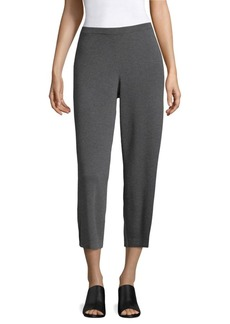 Wide Wool Cropped Pants