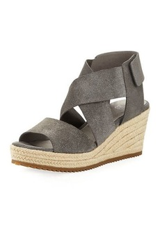 Eileen Fisher Willow Starry Suede Wedge Espadrille Sandal