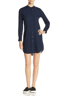 Eileen Fisher Windowpane Silk Shirt Dress