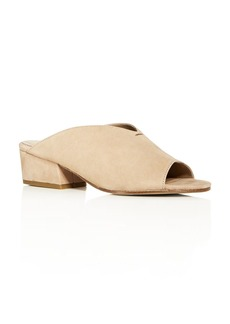 Eileen Fisher Women's Katniss Nubuck Leather Block Heel Slide Sandals