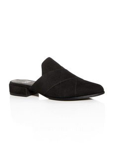 Eileen Fisher Women's Tumbled Nubuck Leather Mules