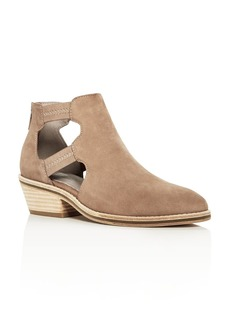 Eileen Fisher Women's Vanda Nubuck Leather Low Heel Booties