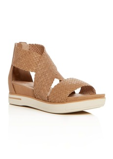 Eileen Fisher Women's Woven Leather Crisscross Platform Sandals