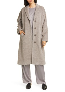 Eileen Fisher Wool & Alpaca Blend Long Coat