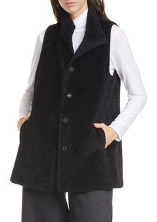 Eileen Fisher Wool Blend Stand Collar Vest