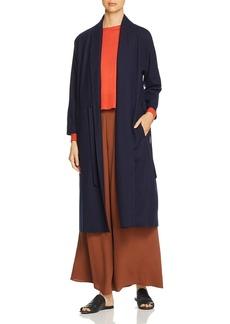 Eileen Fisher Wool Duster Wrap Cardigan