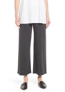 Eileen Fisher Wool Jersey Wide Leg Ankle Pants (Regular & Petite)