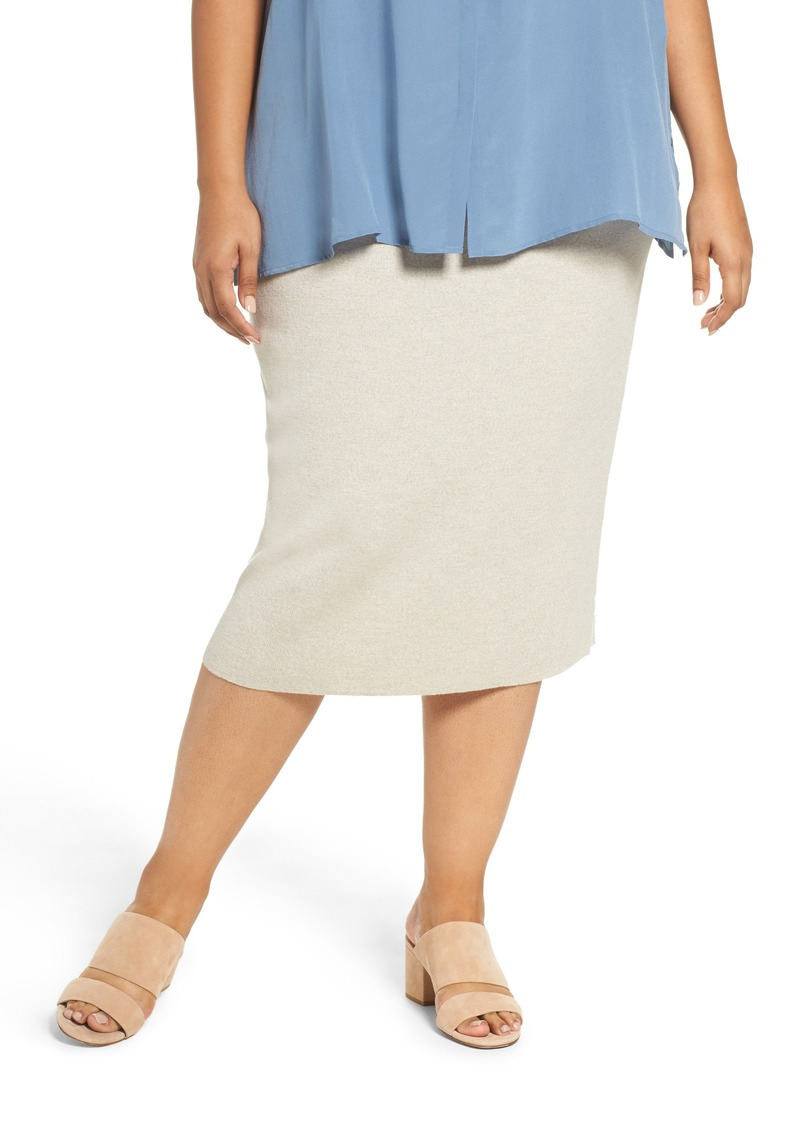 7b419cddc75 Eileen Fisher Eileen Fisher Wool Knit Pencil Skirt (Plus Size)