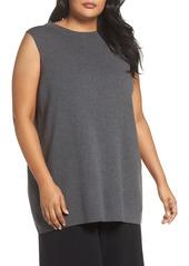 Eileen Fisher Wool Knit Tunic (Plus Size)
