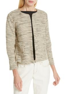Eileen Fisher Woven Cotton Jacket (Regular & Petite)