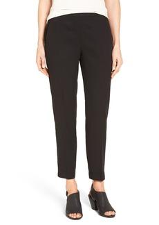 Eileen Fisher Woven Slim Leg Ankle Pants (Regular & Petite)