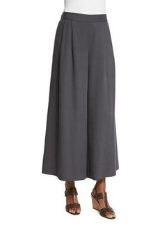 Eileen Fisher Woven Tencel® Grain Wide-Leg Cropped Pants