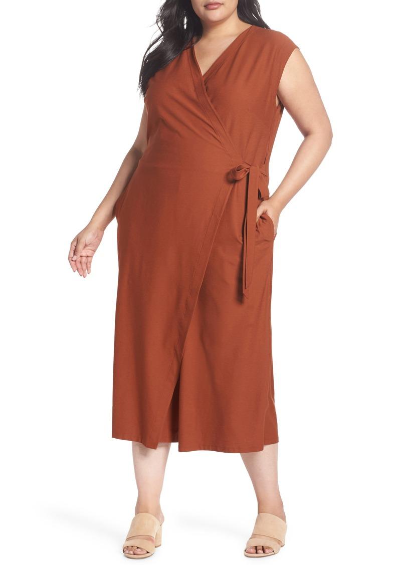 6e315199118 Eileen Fisher Eileen Fisher Wrap Crop Wide Leg Jumpsuit (Plus Size ...