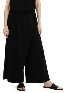 Eileen Fisher Wrap Front Wide Leg Pants