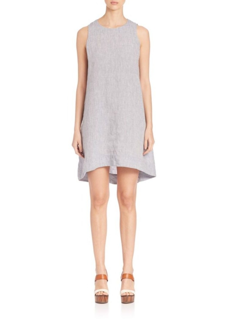 Eileen Fisher Yarn-Dyed Flared Chambray Dress