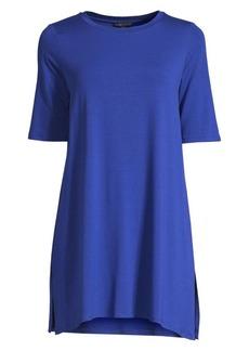 Eileen Fisher Elbow-Sleeve Stretch-Tencel Tunic